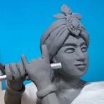 【日記&美術】:ピューと吹くクリシュナ神 作製記-その①