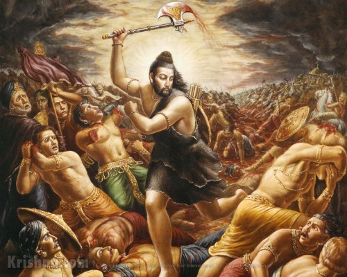 Lord Parashurama kills the sinful kings of the world